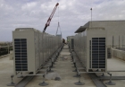 Pump House, roof support system, VRV, VRF, air conditioning