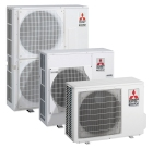 Mitsubishi, heat pump, space heating, DHW, Part L, Building Regula