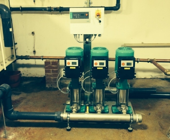 pipes, pipework, Wilo, pump, booster, boosting