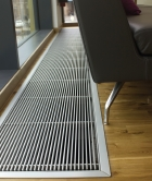 Jaga, space heating, heat emitter, heat pump, perimeter heating, trench heater