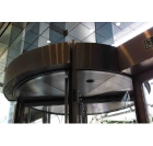 Boon Edam, door curtain, revolving door, space heating