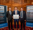 ECA Edmundson Apprentice of the Year, Jack Teasdale, OPUS Building Services, Mark Felber