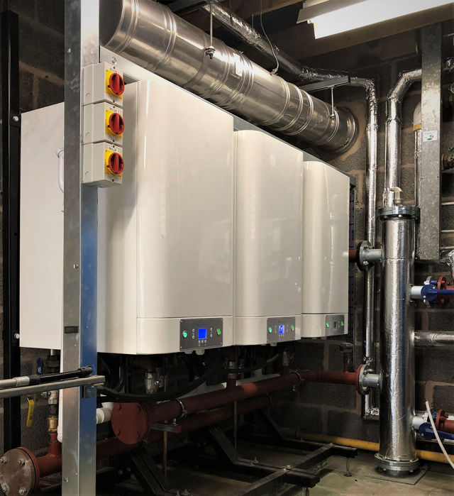 Mikrofill, John Black Day Hospital, boilers, Mikrovent, Waterman Group, LPHW system, pressurisation