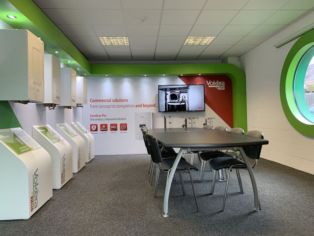 Riello, Vokera, London Colney, showroom, training, CPD