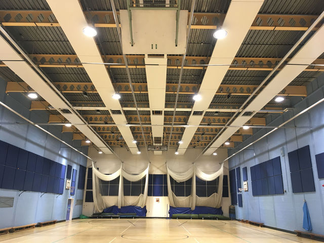 Dunham-Bush, Charles Darwin School, school, radiant panels, heating, Evolution, sports hall
