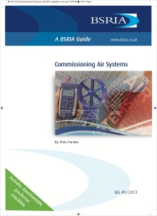 Air systems, Parsloe, commissioning, balancing