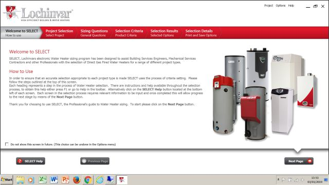 Lochinvar, SELECT, water heater