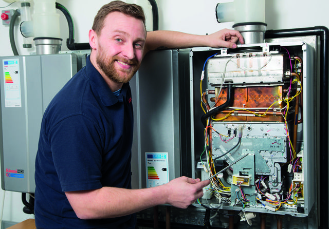 boiler, continuous flow hot water, heating, hot water, maintenance, Rinnai, service, training
